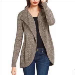 CABI Swear By Marled  Cotton Open Sweater
